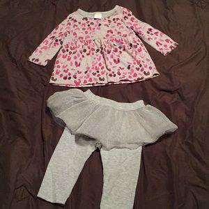 Tutu 2 piece outfit